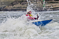 White water slalom Royalty Free Stock Photo
