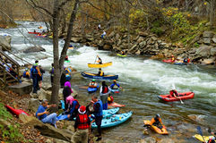 White water sports eventa Royalty Free Stock Image