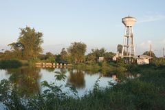 White water tanks and ponds Stock Image