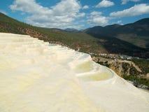 White water terrace baishuitai Stock Images