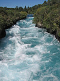 White water of Waikato river, New Zealand stock photo