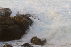 White Water Waves and Rocks Royalty Free Stock Image