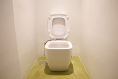 White watercloset open Stock Photo