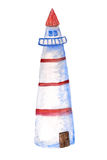 White watercolor lighthouse Royalty Free Stock Image