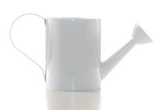 White Watering Can Isolated Stock Photo