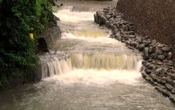 White Waters. In a raging creek Royalty Free Stock Photography