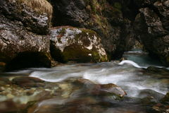 White waters. Water making way on white rocks Royalty Free Stock Photography