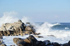 White waters in seaside. Of East-Sea, Korea Stock Photography