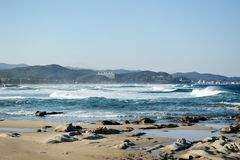 White waters in seaside Royalty Free Stock Photography