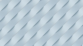 White wave band abstract surface pattern. 3d rendering Stock Image
