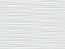 White wave pattern vector abstract 3D background. White pattern background with seamless wave wall texture. Vector modern ripple interior decoration. Seamless 3d Royalty Free Stock Image
