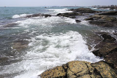 White wave shock reef Royalty Free Stock Photos
