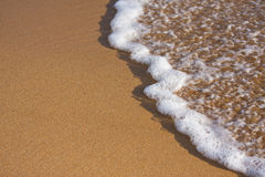 White wave on beach Stock Photography