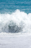 White waves at the beach Stock Photography