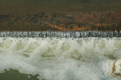 White waves in the dam Stock Photography