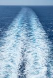 White Waves Formed Behind a Cruise Ship #2 Stock Photo