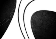 White waves on grunge black texture Stock Photography