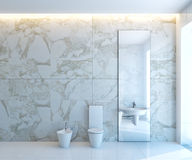 White WC. Modern luxurious bathroom in house on a beach Royalty Free Stock Images