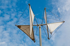 White Weather Vane in Genoa Dock Royalty Free Stock Photo