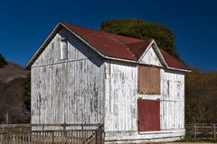White Weathered Wood Barn Royalty Free Stock Photography