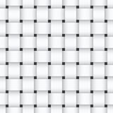 White weaving seamless pattern Royalty Free Stock Photos