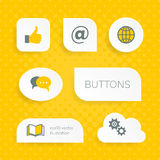 White web buttons with multimedia icons Royalty Free Stock Photos