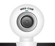 White web cam Stock Photos