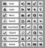 White web design buttons set Stock Image