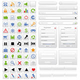 White web design elements set. Vector illustration Stock Photos