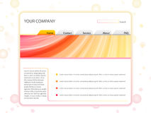 White Website Layout Template Stock Images
