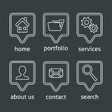 White website menu icons stock illustration