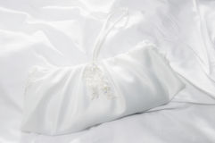 White Wedding Bag Royalty Free Stock Images