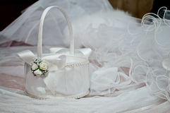 White wedding basket Stock Images