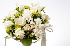 White wedding bouquet. Closeup of white wedding bouquet Stock Photo