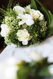 White wedding bouquet. A closeup of a pretty white wedding bouquet Stock Photos