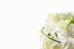 White wedding bouquet. On white background Stock Photos