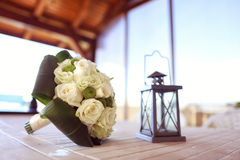 White wedding bouquet Stock Image
