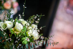 White wedding bouquet. Close up of a wedding bouquet Stock Images