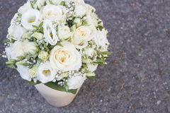 White wedding bouquet Royalty Free Stock Photography