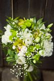 White wedding bouquet with tulips stock photography