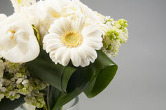 White wedding bouquet in a vase Royalty Free Stock Photography