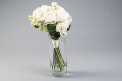 White wedding bouquet in a vase Royalty Free Stock Images