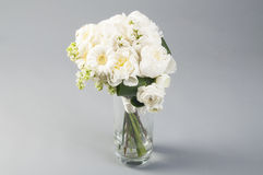 White wedding bouquet in a vase Stock Photography