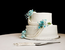 White wedding cake royalty free stock photo