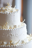 White wedding cake Stock Images