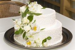 White wedding cake Stock Image