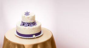 White wedding cake Royalty Free Stock Photography