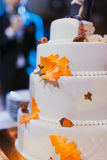 White wedding cake Royalty Free Stock Images