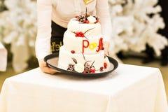 White Wedding Cake Stock Photography