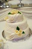 White wedding cake Royalty Free Stock Photos